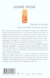 La Lune Et Les Feux / La Plage - 4ème de couverture - Format classique