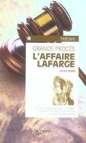 Affaire Lafarge (L) - Intérieur - Format classique