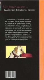 Un jour avec mon labrador - 4ème de couverture - Format classique