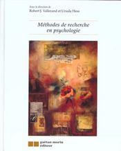Methodes de recherche en psychologie - Intérieur - Format classique