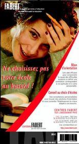 Guide Fabert Paris Ile De France 2004-2005 - 4ème de couverture - Format classique