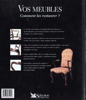 Vos Meubles Comment Les Restaurer - 4ème de couverture - Format classique