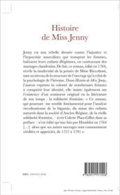 Histoire de missJJenny 1764 - 4ème de couverture - Format classique