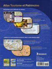 Atlas tourisme et patrimoine france (édition 2007) - 4ème de couverture - Format classique