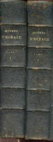 Oeuvres D'Horace - Tome 1 Et 2 - - Odes Et Satires, Epitres - Art Poetique - Couverture - Format classique
