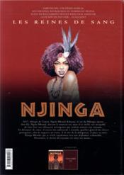 Les reines de sang - Njinga, reine d'Angola T.1 - 4ème de couverture - Format classique