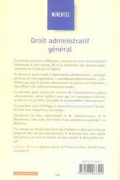 Droit Administratif General (23e Edition) - 4ème de couverture - Format classique