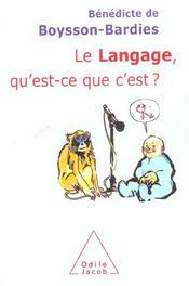 Le langage, qu'est-ce que c'est ? - Intérieur - Format classique