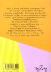 Vive la mariée ! - 4ème de couverture - Format classique