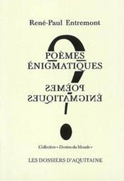 Poèmes énigmatiques - Couverture - Format classique