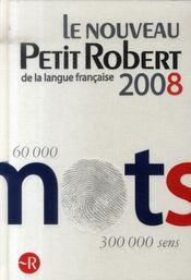 Petit Robert de langue française (édition 2008) - Intérieur - Format classique