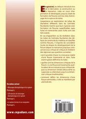 Fuite et rupture des tubes endommages - 4ème de couverture - Format classique