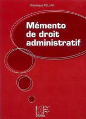 Memento de droit administratif - Couverture - Format classique