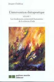 Intervention Therapeutique V.1 Fond. - Intérieur - Format classique