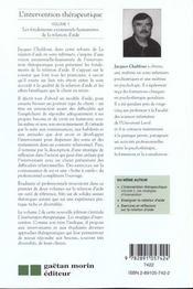 Intervention Therapeutique V.1 Fond. - 4ème de couverture - Format classique