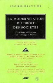 Modernisation dt des societes - Couverture - Format classique