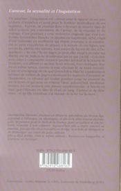 L'amour, la sexualité et l'inquisition - 4ème de couverture - Format classique