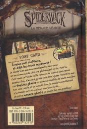 Au-delà du monde de Spiderwick cycle II t.2 - 4ème de couverture - Format classique