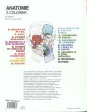 Anatomie a colorier 2eme - 4ème de couverture - Format classique
