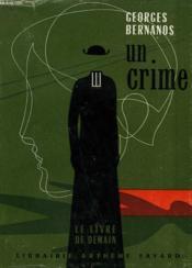 Un Crime. Le Livre De Demain N° 10. - Couverture - Format classique