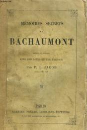 Memoires Secrets De Bachaumont - Couverture - Format classique