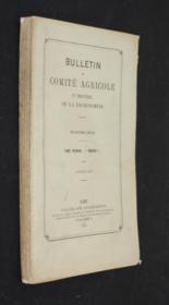 Bulletin du Comité agricole et industriel de la Cochinchine, troisième série, tome premier, n°I, 1878 - Couverture - Format classique