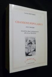 Chansons Populaires Avec Musique Recueillies Dans Le Departement D'Ille-Et-Vilai - Couverture - Format classique