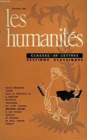 Les Humanites - Classe De Lettres - Novembre 1960 - Couverture - Format classique