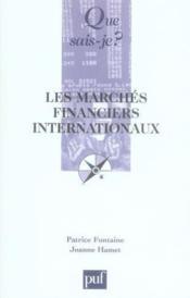 Les marchés financiers internationaux (2e édition) - Couverture - Format classique