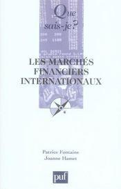 Les marchés financiers internationaux (2e édition) - Intérieur - Format classique