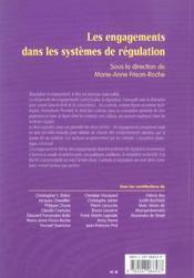 Les engagements dans les systemes de regulation - 1ere edition - 4ème de couverture - Format classique