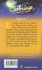 Sabrina t.23 ; quelle vie - 4ème de couverture - Format classique