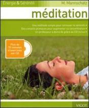 Méditation ; énergie et sérénité - Couverture - Format classique