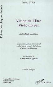 Vision De L'Etre ; Anthologie Poetique - Intérieur - Format classique