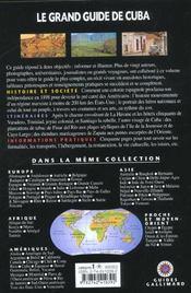 Cuba - 4ème de couverture - Format classique
