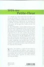 Petite-fleur - 4ème de couverture - Format classique