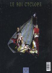 Le roi cyclope t.3 ; Griselda - 4ème de couverture - Format classique