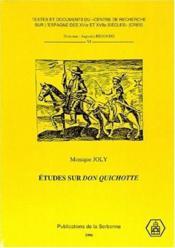 Études sur Don Quichotte - Couverture - Format classique