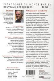 Nouveaux pédagogues t.1 ; pédagogues de la modernité - 4ème de couverture - Format classique