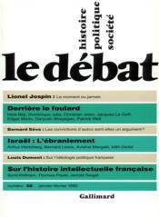 Revue Le Débat N.58 ; février 1990 - Couverture - Format classique
