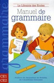 Manuel de grammaire ; CE1/CE2 - Couverture - Format classique