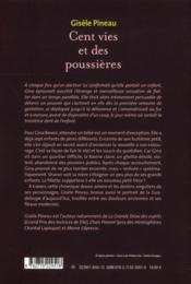 Cent vies et des poussières - 4ème de couverture - Format classique