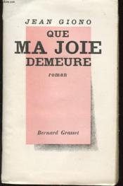 Que Ma Joie Demeure - Couverture - Format classique