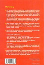 Marketing ; 3e Edition - 4ème de couverture - Format classique