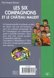 Les six compagnons - t09 - les six compagnons 09 - les six compagnons et le chateau maudit - 4ème de couverture - Format classique