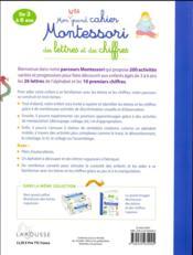 Mon grand cahier Montessori - 4ème de couverture - Format classique