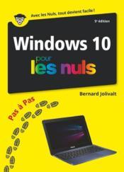 Windows 10 pas à pas pour les nuls (5e édition) - Couverture - Format classique