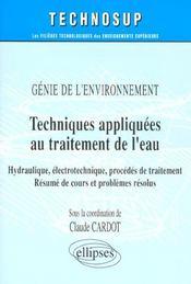 Genie De L'Environnment Techniques Appliquees Au Traitement De L'Eau Hydraulique Electrotechnique - Intérieur - Format classique