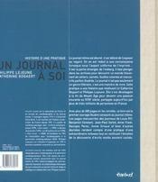 Un journal à soi - 4ème de couverture - Format classique