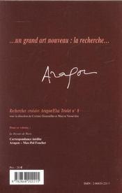 Aragon Elsa Triolet - 4ème de couverture - Format classique